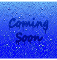 Coming soon concept with misted mirror vector image vector image