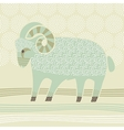 Decorative Ram vector image