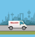 delivery truck vector image vector image