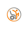 disability care logo design template vector image vector image