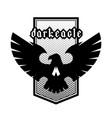 eagle skull emblem symbol logo vector image vector image