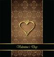 Elegant classic valentines day background vector image vector image