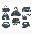 fashion bags collection vector image vector image