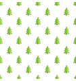 festive xmas tree pattern seamless vector image vector image