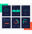 financial and marketing data charts network vector image