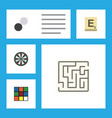 flat icon play set of chequer labyrinth mahjong vector image vector image
