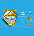 flat taxi order service template vector image