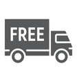free delivery glyph icon e commerce vector image vector image