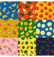 Fruits seamless patterns set vector image vector image