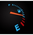 Fuel indication black vector image