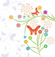 Funny background with butterflies vector image vector image