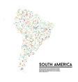 geometric simple minimalistic style south america vector image
