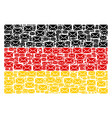 germany flag collage of mail envelope items vector image