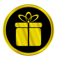 Gift sign button vector image