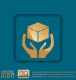 hands holding box logistic icon vector image vector image