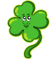 happy four leaf clover vector image