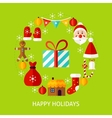 Happy Holidays Flat Concept vector image vector image