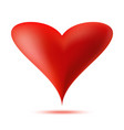 heart 3d logo valentine heart icon vector image
