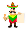 hot mexican sombrero vector image