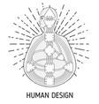 human design bodygraph chart design vector image