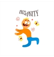 Insanity vector image