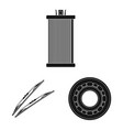 isolated object of auto and part icon collection vector image vector image