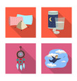 isolated object of dreams and night sign vector image