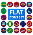 jewelry and accessories flat icons in set vector image vector image