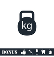 Kettlebell icon flat vector image vector image