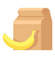 Lunch box icon flat style vector image