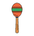 maracas tropical instrument icon vector image vector image