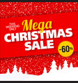 mega christmas sale banner vector image vector image