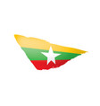 myanmar flag on a white vector image