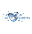 national flag argentina in shape
