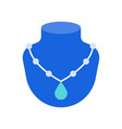 necklace with turquoise pendant jewelry related vector image vector image