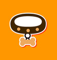 paper sticker on stylish background dog collar vector image vector image