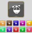 Perfume icon sign Set with eleven colored buttons vector image vector image