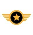 pilot plane emblem wings vector image