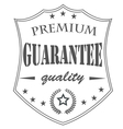 premium garantee vector image vector image