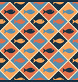 seamless nautical pattern with cute fishes vector image vector image