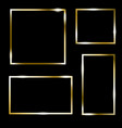 set gold picture frame on black sixteen gilden vector image vector image