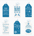 set of christmas label christmas tag new vector image vector image