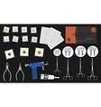 Set of professional piercing equipment Color vector image vector image