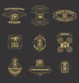 set vintage photo studio labels and emblems vector image