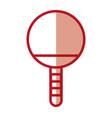 shadow ping pong racket vector image vector image
