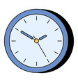 simple wall clock instrument to indicate time vector image vector image