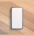 smart phone on wooden table vector image