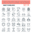 smart technologies outline icons vector image