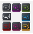 square button mask vector image