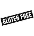 square grunge black gluten free stamp vector image vector image